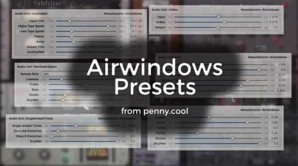Presets for Airwindows