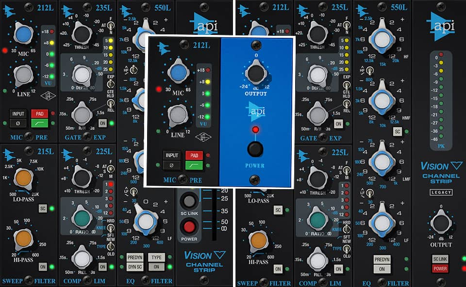 UAD API Vision Channel Strip preamp collection
