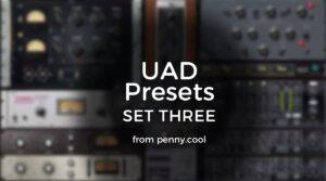 UAD Presets set three LOGO